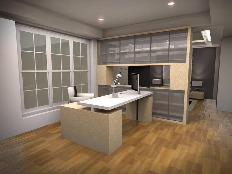 Penthouse MOI:  Ruang Kerja by Dekapolis Design