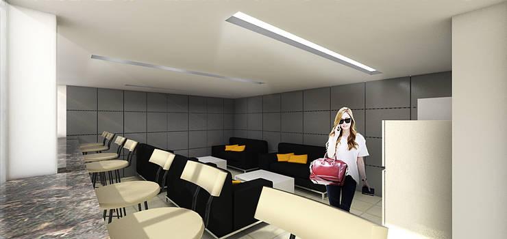 Showroom Cheverolet Fatmawati:  Kantor & toko by Dekapolis Design