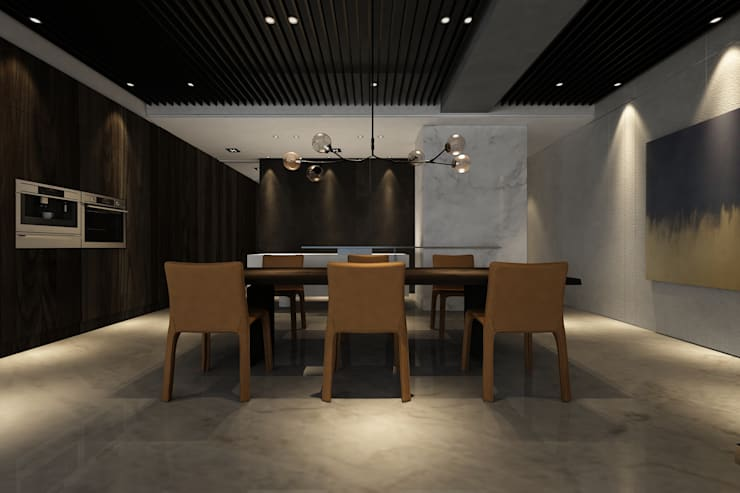Taipei Z House:  餐廳 by 質覺制作設計有限公司