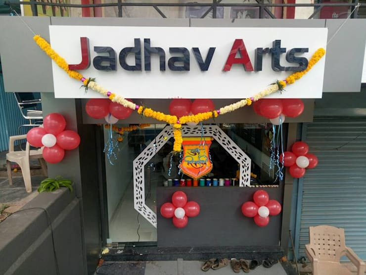 1. JADHAV ARTS , VITA. : asian Study/office by BETWEEN THE WALLS
