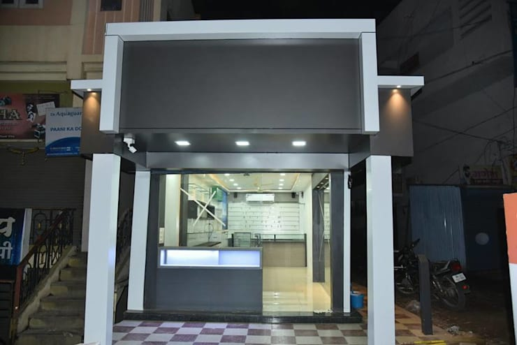2. YASHODEEP MOBILE SHOPEE,VITA.:  Study/office by BETWEEN THE WALLS,Asian Plywood