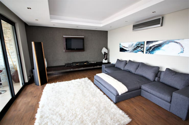 DVD room:  Electronics by Nuclei Lifestyle Design
