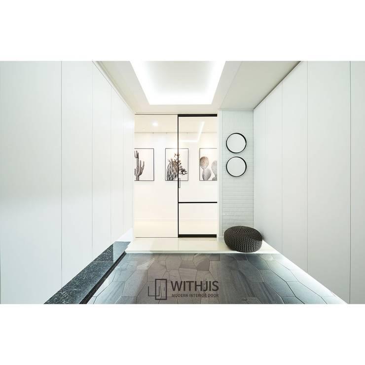 일리디자인 원슬라이딩도어 원슬라이딩중문 슬림알루미늄중문: WITHJIS(위드지스)의  문,