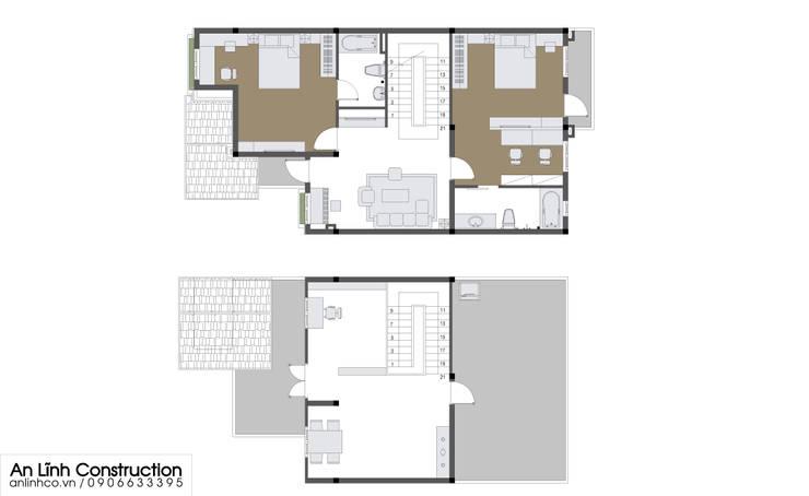 AN LĨNH CONSTRUCTION – Thiết kế và thi công cải tạo nhà cho anh Nguyễn Ngọc Tuấn:   by CÔNG TY THIẾT KẾ XÂY DỰNG AN LĨNH