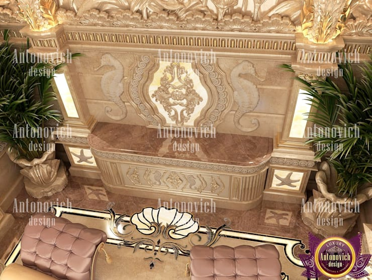 SPA interior design by Katrina Antonovich:  Spa by Luxury Antonovich Design