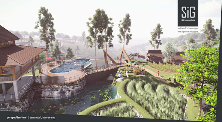 Ijen Resort, Banyuwangi:  Hotels by sigit.kusumawijaya | architect & urbandesigner