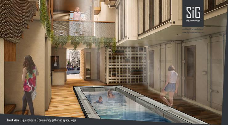 Jogja Guest House:  Hotels by sigit.kusumawijaya | architect & urbandesigner