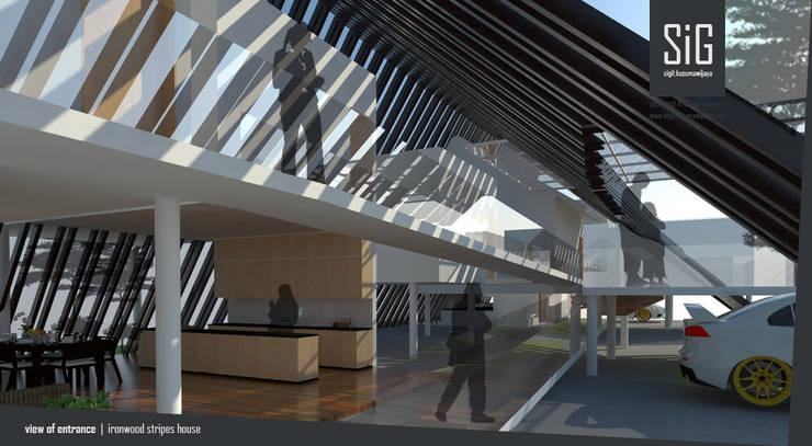 Ironwood Stripes House:  Hotels by sigit.kusumawijaya | architect & urbandesigner