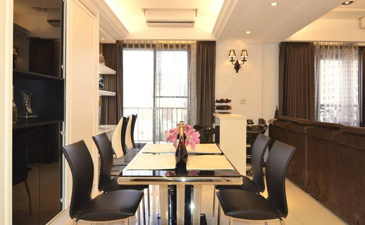 用餐區:  餐廳 by 奇恩室內裝修設計工程有限公司