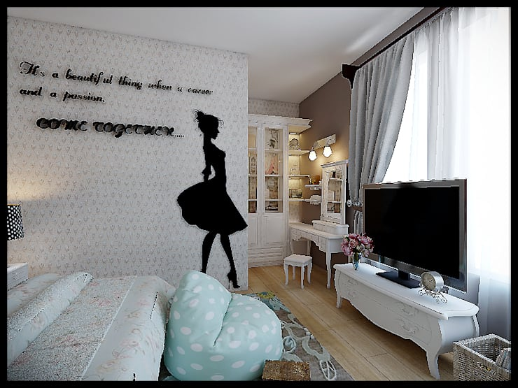 Kids room :  Kamar tidur anak perempuan by VaDsign