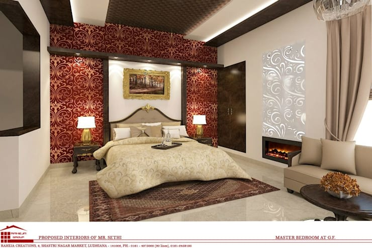 Interiors:  Bedroom by Raheja Creations