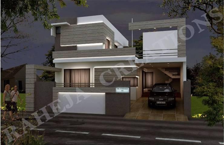 Maisons modernes par Raheja Creations Moderne