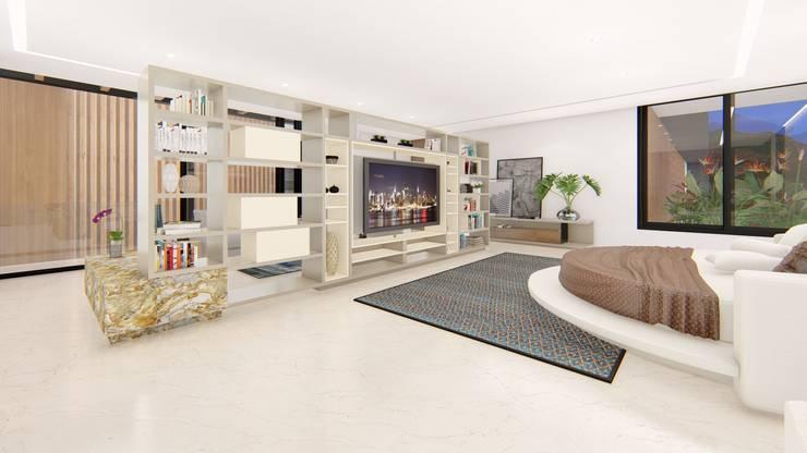 casa la riverita : Habitaciones de estilo  por astratto