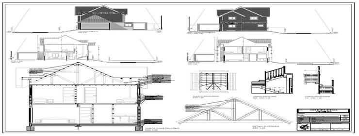 Regularizacion Vivienda : Casas de estilo  por Aedo Arquitectos & Design