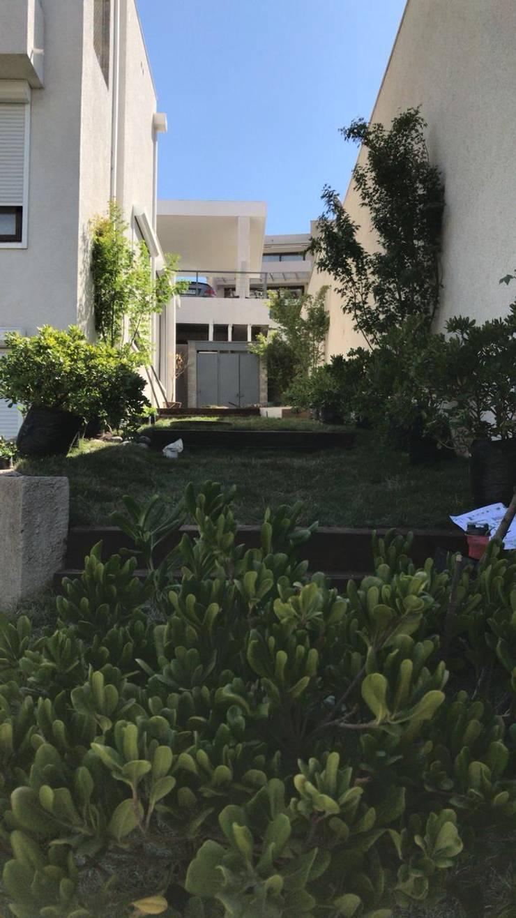 PAISAJISMO CASA LO BARNECHEA: Jardines de estilo  por ATELIER3