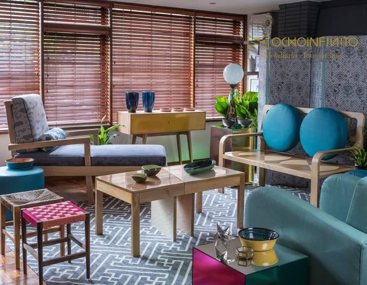 Living room by OCHOINFINITO Mobiliario - Interiorismo