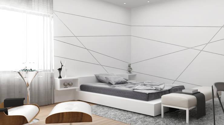 Modern bedroom interior :  Bedroom by Rhythm  And Emphasis Design Studio ,Modern