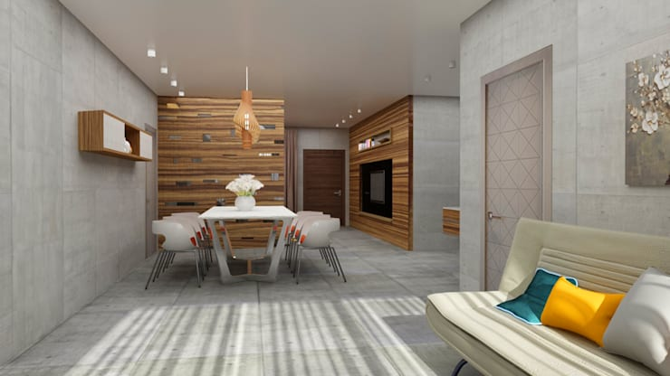 Dining area design:  Dining room by Rhythm  And Emphasis Design Studio ,Modern