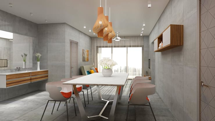 Dining area design :  Dining room by Rhythm  And Emphasis Design Studio ,Modern