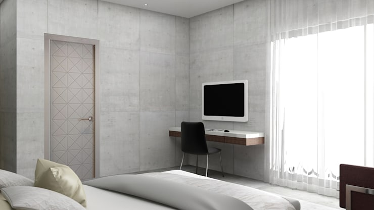study unit design in the bedroom :  Bedroom by Rhythm  And Emphasis Design Studio ,Modern