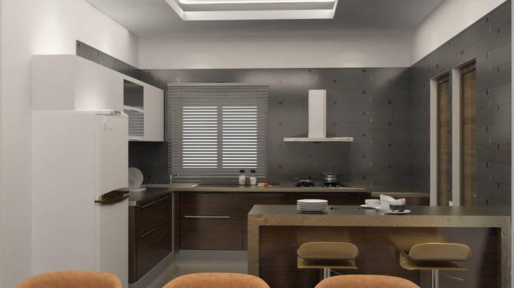 Modern kitchen design :  Kitchen by Rhythm  And Emphasis Design Studio ,Modern