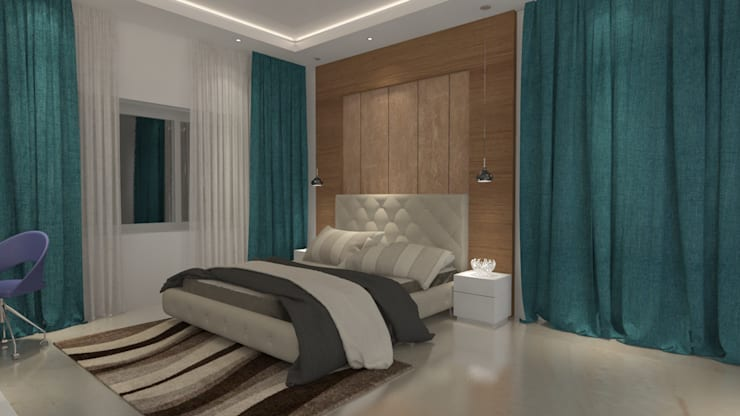 Bedroom design in contemporary style :  Bedroom by Rhythm  And Emphasis Design Studio ,Modern