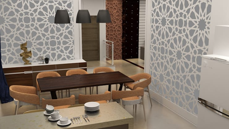 Dining area:  Dining room by Rhythm  And Emphasis Design Studio ,Modern