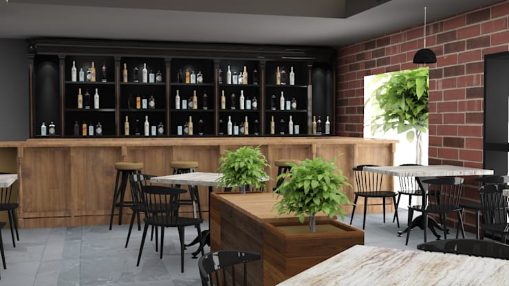 Counter design in cafe :  Gastronomy by Rhythm  And Emphasis Design Studio ,Modern