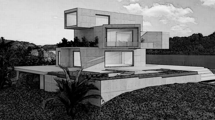 BOX house : modern  by Rhythm  And Emphasis Design Studio ,Modern