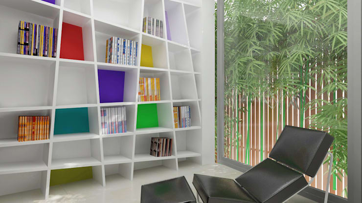 library design in the residence:  Kitchen by Rhythm  And Emphasis Design Studio ,Modern