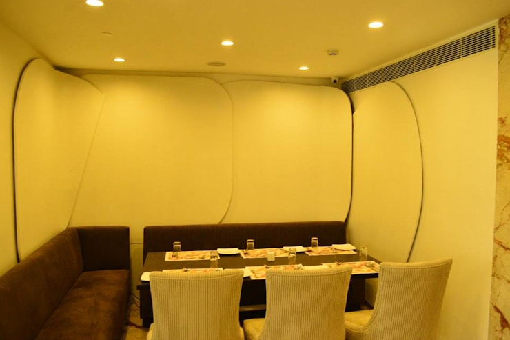 Family lounge area in the restaurant :  Conference Centres by Rhythm  And Emphasis Design Studio ,Modern
