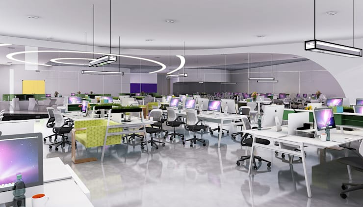 Project office concept: modern  by Rhythm  And Emphasis Design Studio ,Modern