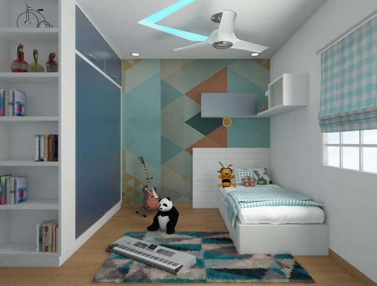 kids bedroom in pastel shades : modern  by Rhythm  And Emphasis Design Studio ,Modern