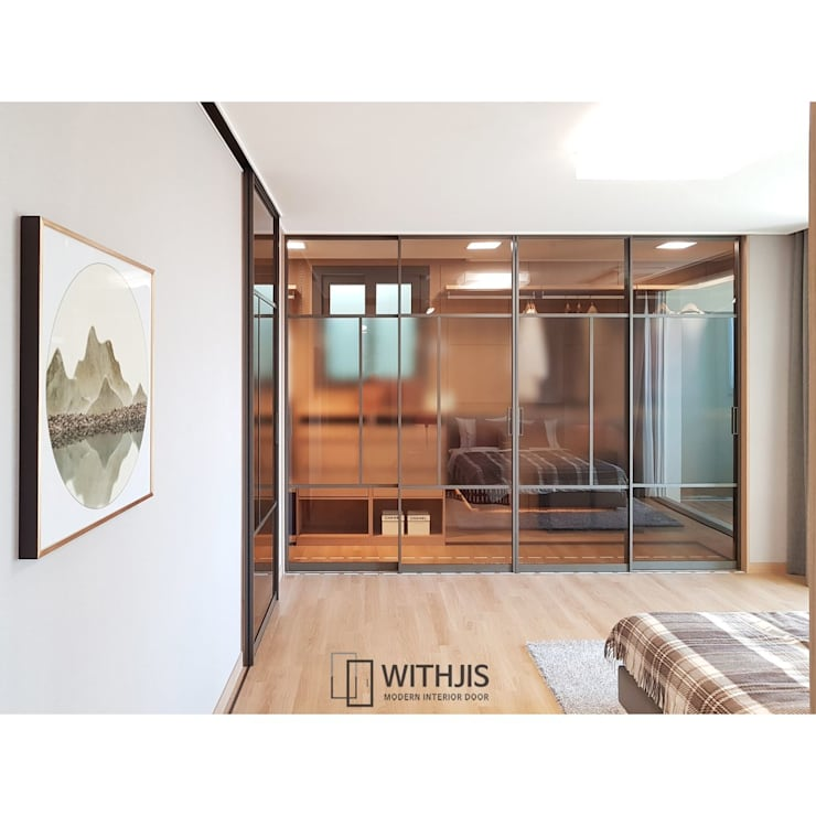 슬림 슬라이딩 도어: WITHJIS(위드지스)의  문,