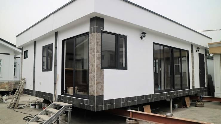 【客製19坪】平屋頂-長治:   by 築地岩移動宅