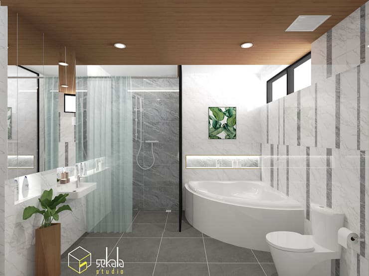 Mr. Adrian's Bathroom:  Kamar Mandi by SEKALA Studio