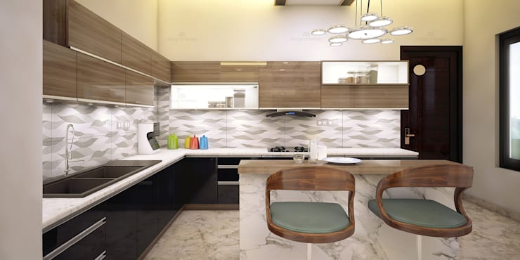 Interior Designing in Kerala: asian Kitchen by Monnaie Interiors Pvt Ltd