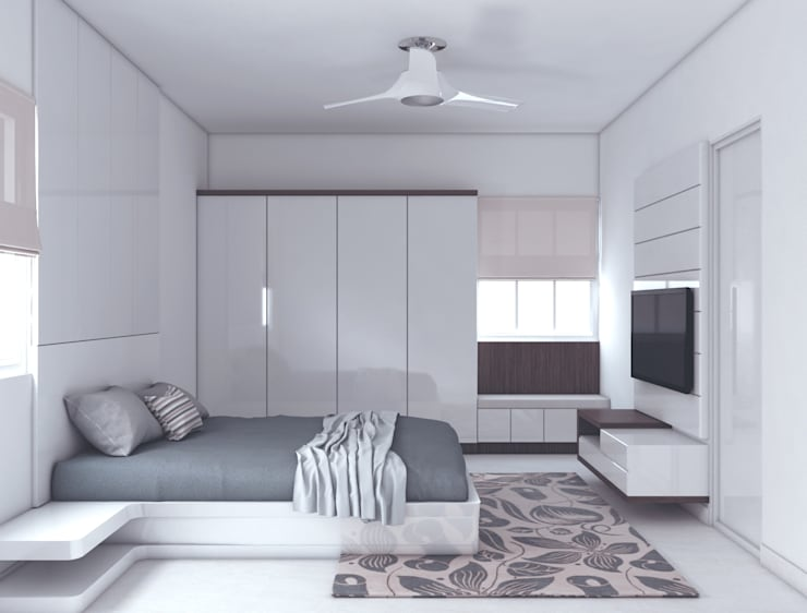 Project 20- The perfect combination of style and simiplicity:  Bedroom by Rhythm  And Emphasis Design Studio