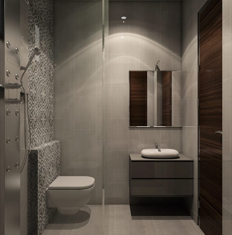 """Bathroom with glass partition : {:asian=>""""asian"""", :classic=>""""classic"""", :colonial=>""""colonial"""", :country=>""""country"""", :eclectic=>""""eclectic"""", :industrial=>""""industrial"""", :mediterranean=>""""mediterranean"""", :minimalist=>""""minimalist"""", :modern=>""""modern"""", :rustic=>""""rustic"""", :scandinavian=>""""scandinavian"""", :tropical=>""""tropical""""}  by Rhythm  And Emphasis Design Studio ,"""