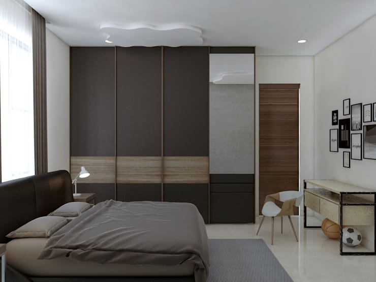 """Bedroom and wardrobes for perfect living: {:asian=>""""asian"""", :classic=>""""classic"""", :colonial=>""""colonial"""", :country=>""""country"""", :eclectic=>""""eclectic"""", :industrial=>""""industrial"""", :mediterranean=>""""mediterranean"""", :minimalist=>""""minimalist"""", :modern=>""""modern"""", :rustic=>""""rustic"""", :scandinavian=>""""scandinavian"""", :tropical=>""""tropical""""}  by Rhythm  And Emphasis Design Studio ,"""