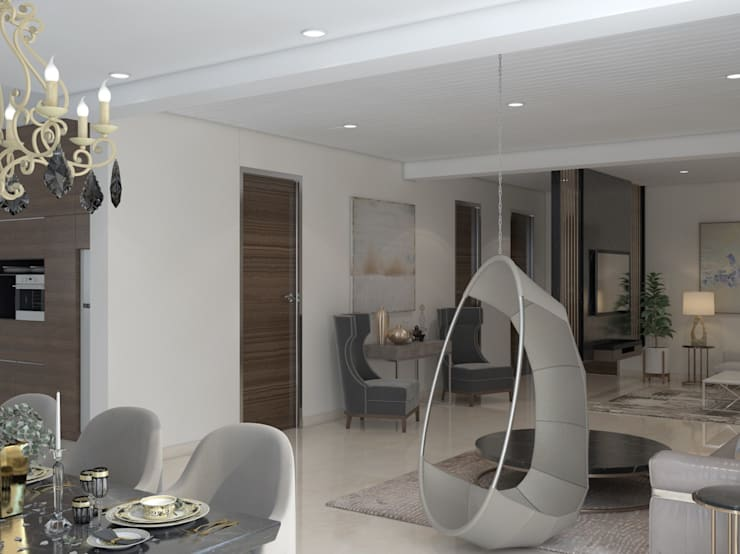 """metallic rafters in the tv unit design and a suspended swing - Living area : {:asian=>""""asian"""", :classic=>""""classic"""", :colonial=>""""colonial"""", :country=>""""country"""", :eclectic=>""""eclectic"""", :industrial=>""""industrial"""", :mediterranean=>""""mediterranean"""", :minimalist=>""""minimalist"""", :modern=>""""modern"""", :rustic=>""""rustic"""", :scandinavian=>""""scandinavian"""", :tropical=>""""tropical""""}  by Rhythm  And Emphasis Design Studio ,"""