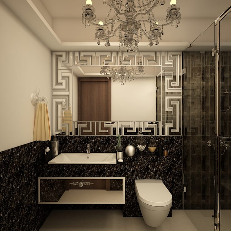 Contemporary bathroom design :  Bathroom by Rhythm  And Emphasis Design Studio ,Classic