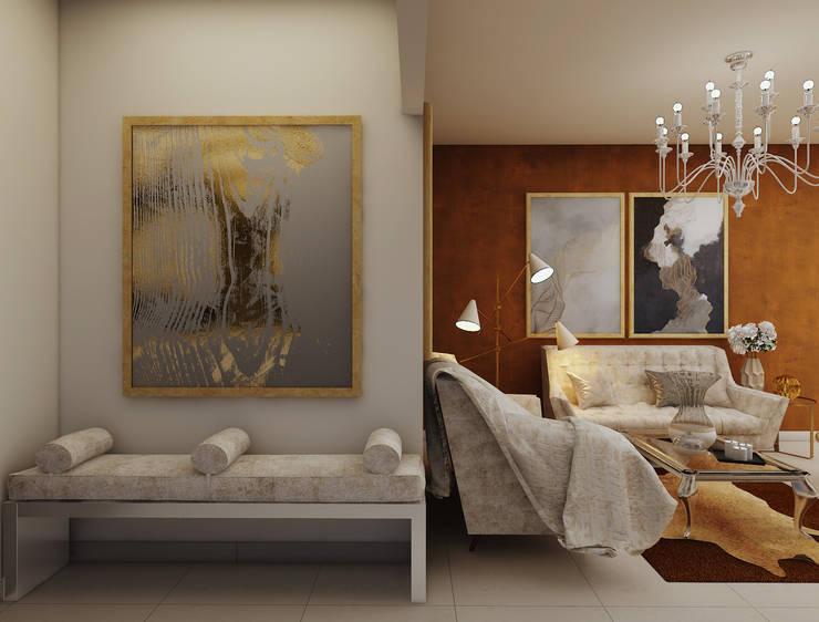 Foyer entrance in luxury contemporary design :  Corridor & hallway by Rhythm  And Emphasis Design Studio ,Classic