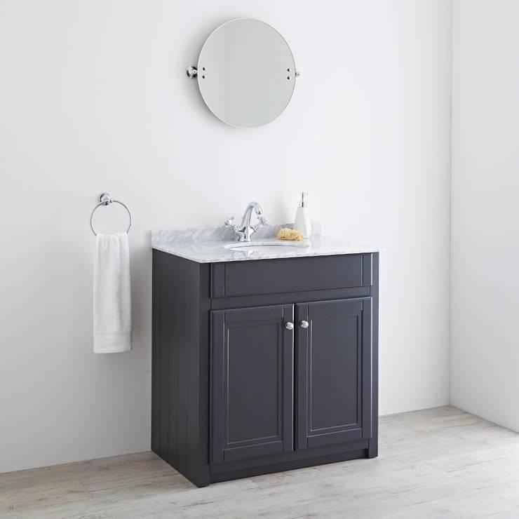 Milano Edgworth 800mm Anthracite Vanity Unit:  Bathroom by BigBathroomShop