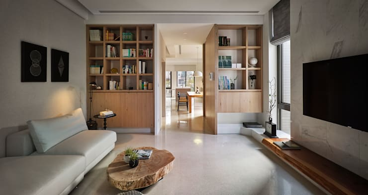 Livings de estilo  por Fertility Design 豐聚空間設計