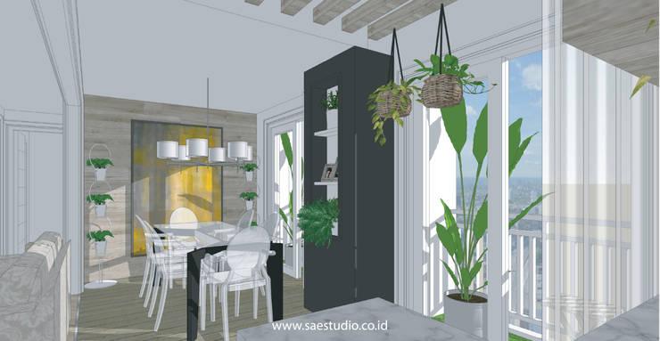 Dining room by SAE Studio (PT. Shiva Ardhyanesha Estetika)