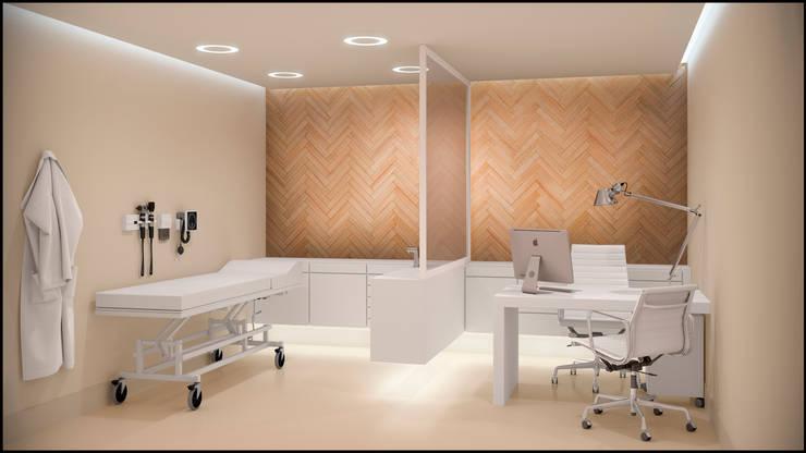 Consultorios Centro Médico: Clínicas y consultorios médicos de estilo  por MADBA design & architecture,