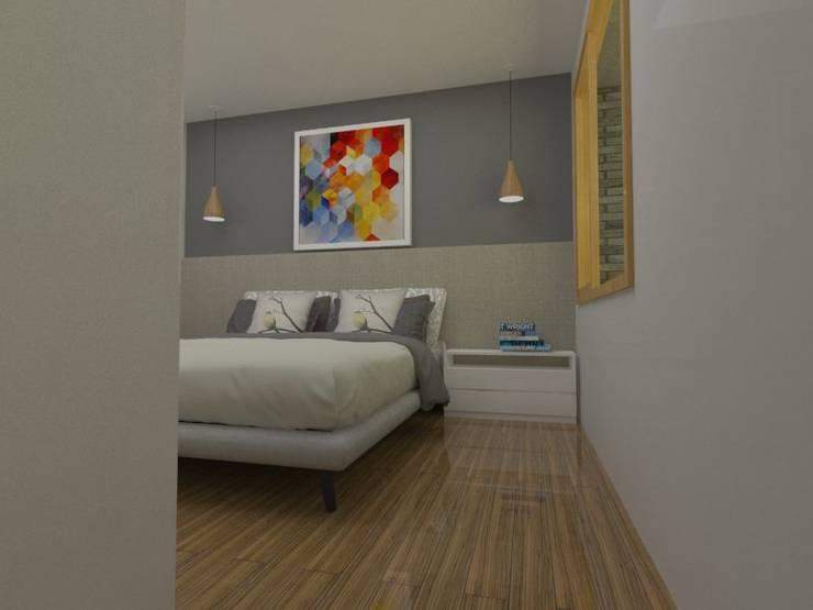 Dormitorio principal: Dormitorios de estilo escandinavo por SBG Estudio