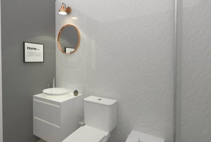 Baño: Baños de estilo moderno por SBG Estudio
