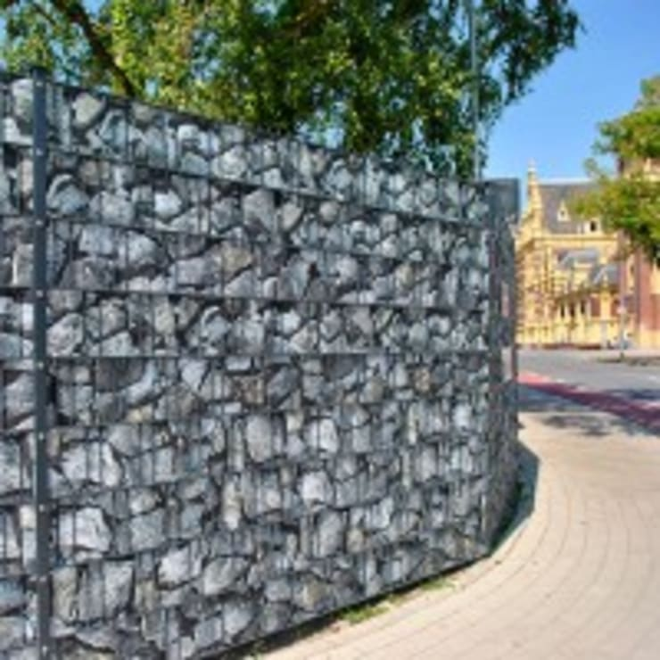 Zaundruck De bruchstein groß - bedruckter zaun sichtschutz streifenzaundruck
